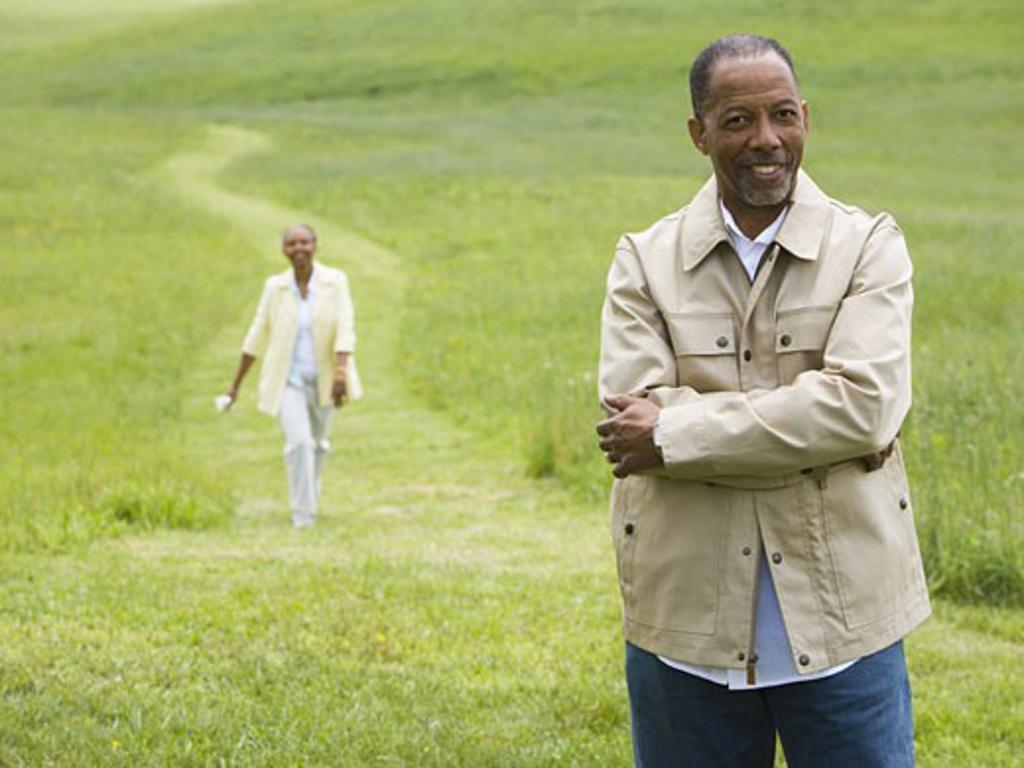 Stock Photo: 1660R-27486 Portrait of a senior man smiling