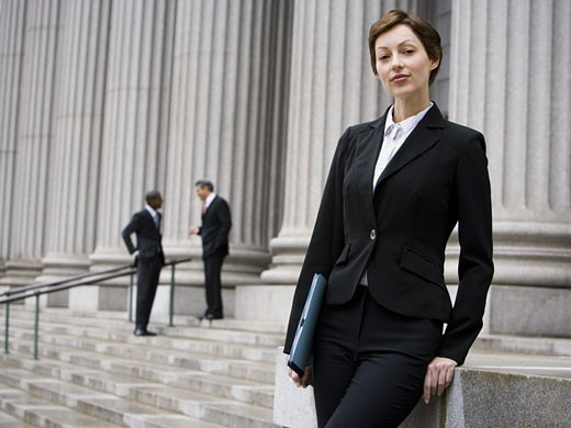 Stock Photo: 1660R-27873 Portrait of a female lawyer smiling