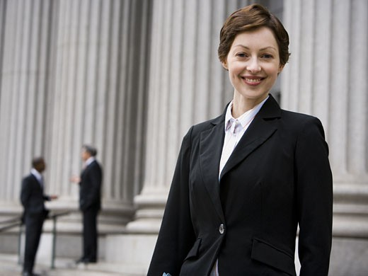 Stock Photo: 1660R-27874 Portrait of a female lawyer smiling