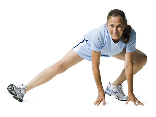Portrait of a senior woman exercising : Stock Photo