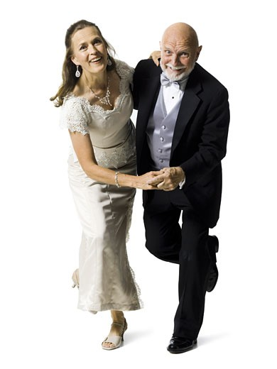 Stock Photo: 1660R-28264 Portrait of a senior couple dancing