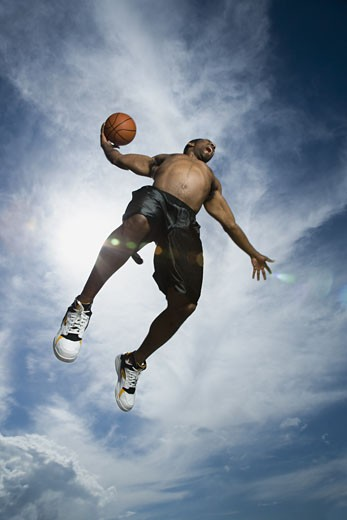 Stock Photo: 1660R-29230 Basketball player