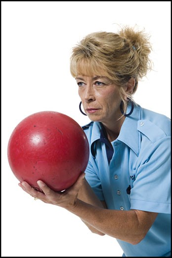 Stock Photo: 1660R-30392 Female bowler