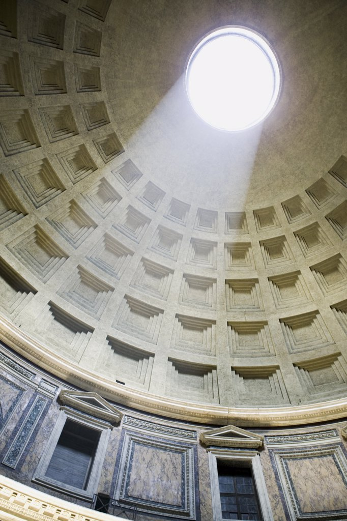 Stock Photo: 1660R-31821 Inside the Pantheon in Rome Italy