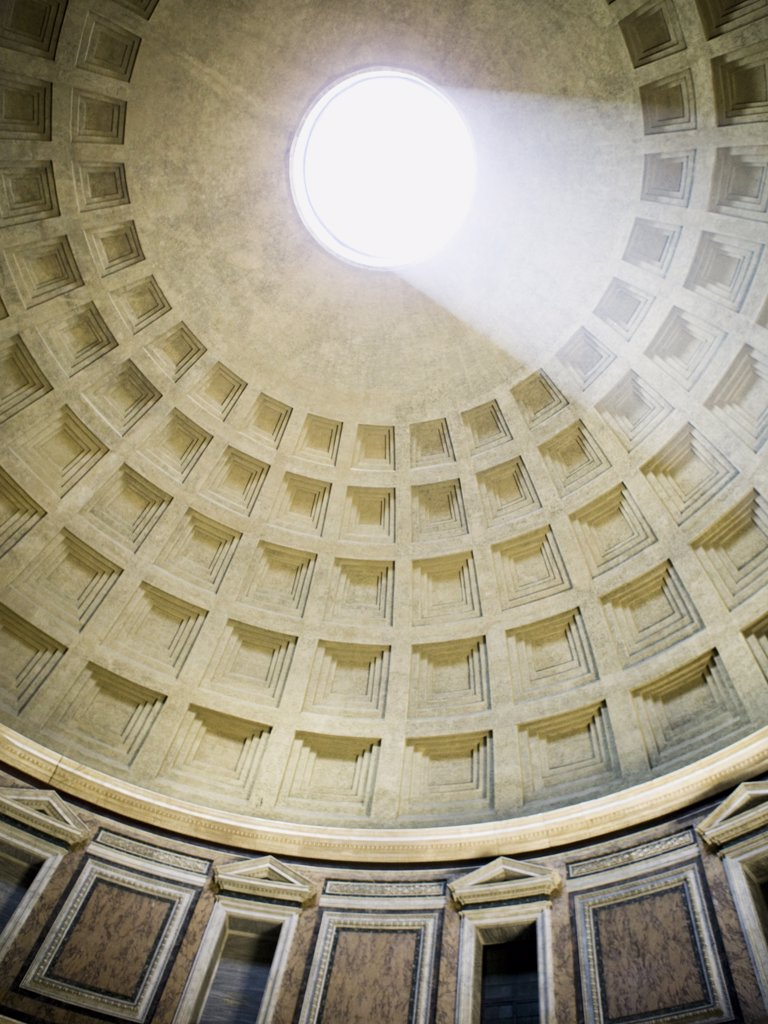 Stock Photo: 1660R-31822 Inside the Pantheon in Rome Italy