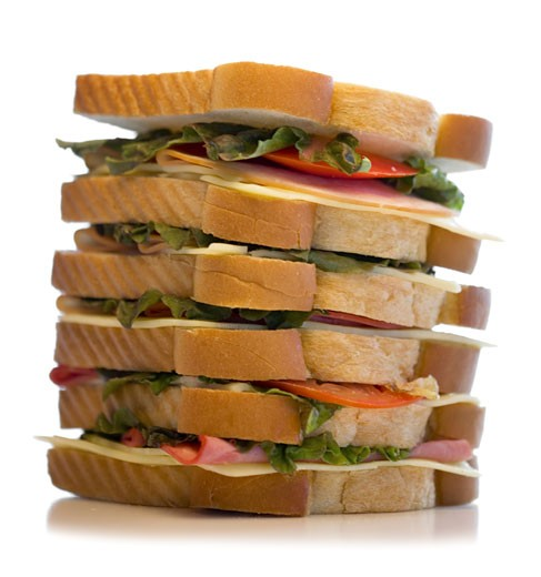 Close-up of a large sandwich : Stock Photo