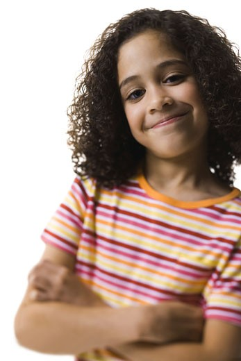 Stock Photo: 1660R-3537 Portrait of a girl smiling