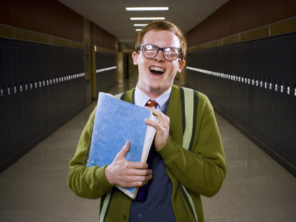 Stock Photo: 1660R-36422 High School Nerd.