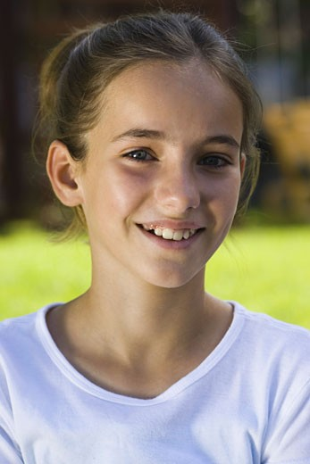 Stock Photo: 1660R-3657 Portrait of a girl smiling