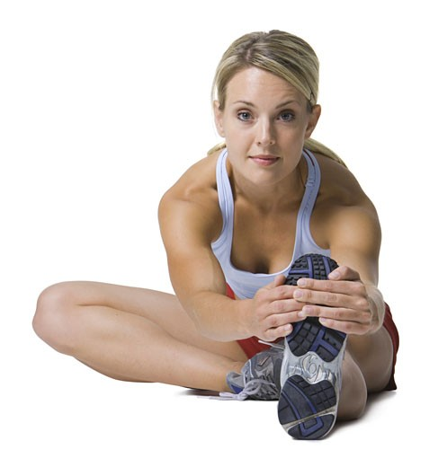 Stock Photo: 1660R-3843 Portrait of a young woman exercising