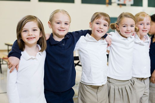 Stock Photo: 1660R-38969 children at school