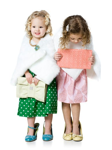 Stock Photo: 1660R-39165 girls playing dress up