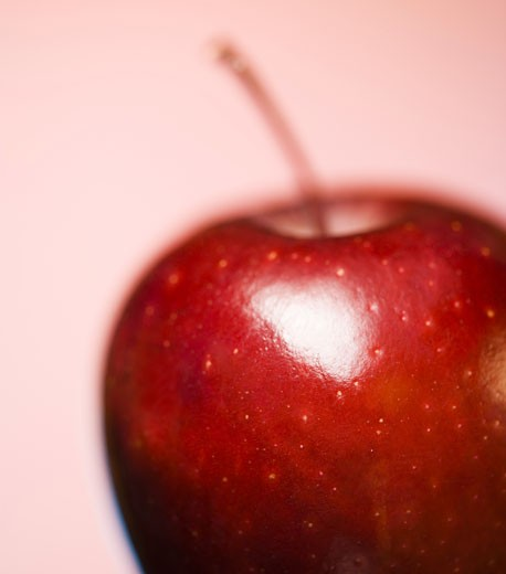 Stock Photo: 1660R-4035 Close-up of an apple