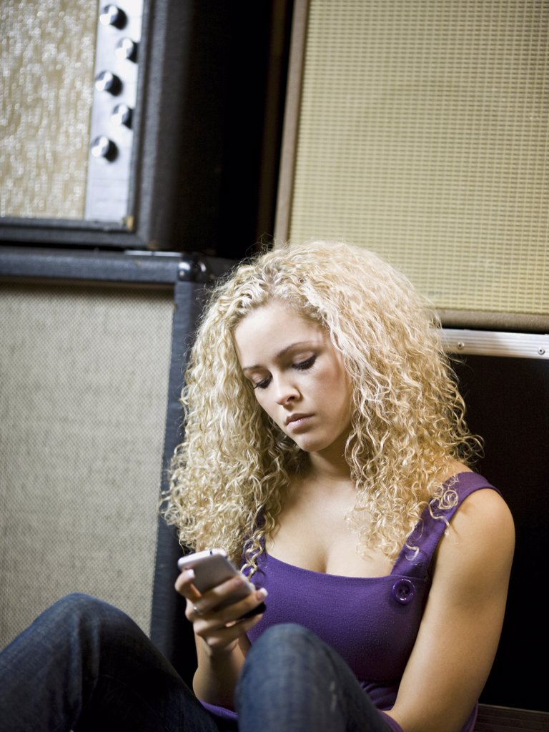 woman text messaging : Stock Photo