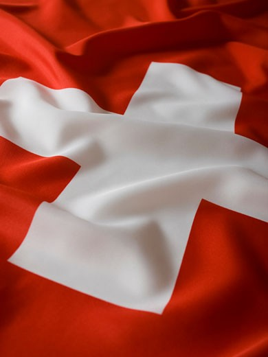 Stock Photo: 1660R-41596 swiss flag