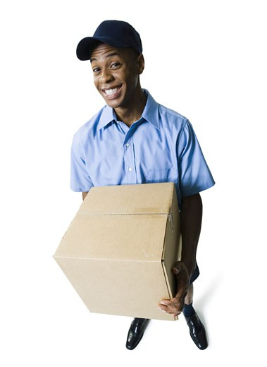 Stock Photo: 1660R-4439 Portrait of a delivery man