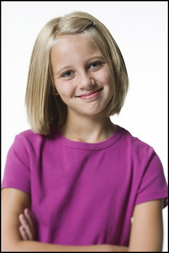 Stock Photo: 1660R-4977 Portrait of a young girl