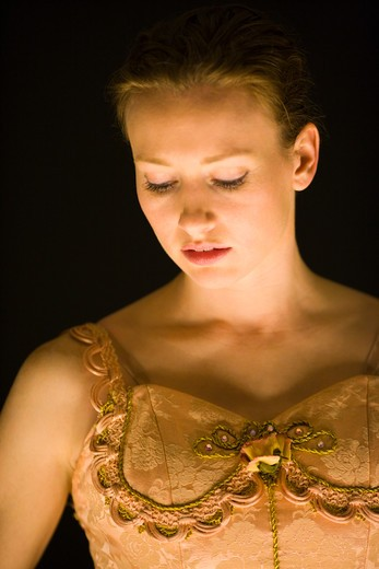 Portrait of ballet dancer : Stock Photo