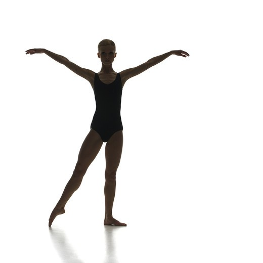 Silhouette of ballet dancer : Stock Photo