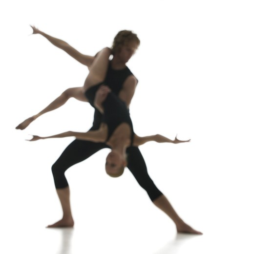 Silhouette of ballet dancer : Stock Photo