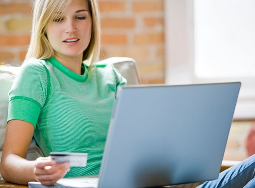 Stock Photo: 1660R-51589 Woman at laptop