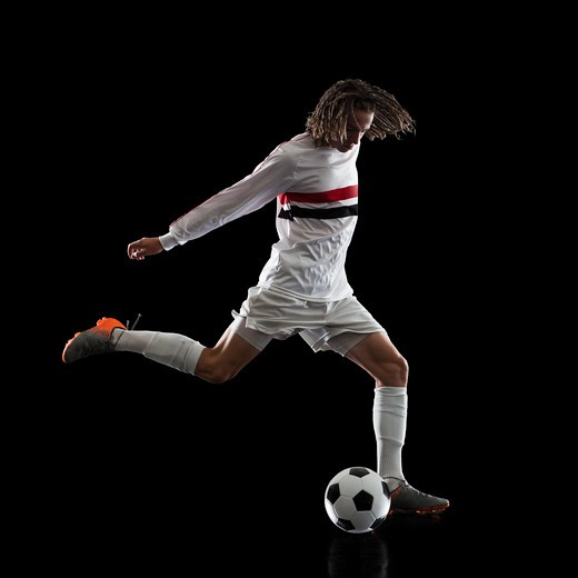 Stock Photo: 1660R-53572 Soccer player.