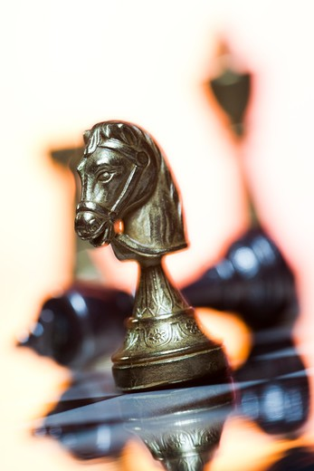 Stock Photo: 1660R-54271 Chess board and chess pieces