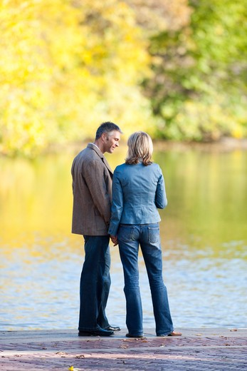 Stock Photo: 1660R-54446 Man and woman embracing