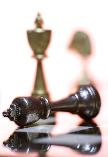 Stock Photo: 1660R-5516 Close-up of a chess piece