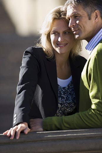 Stock Photo: 1660R-5689 Man and woman looking away
