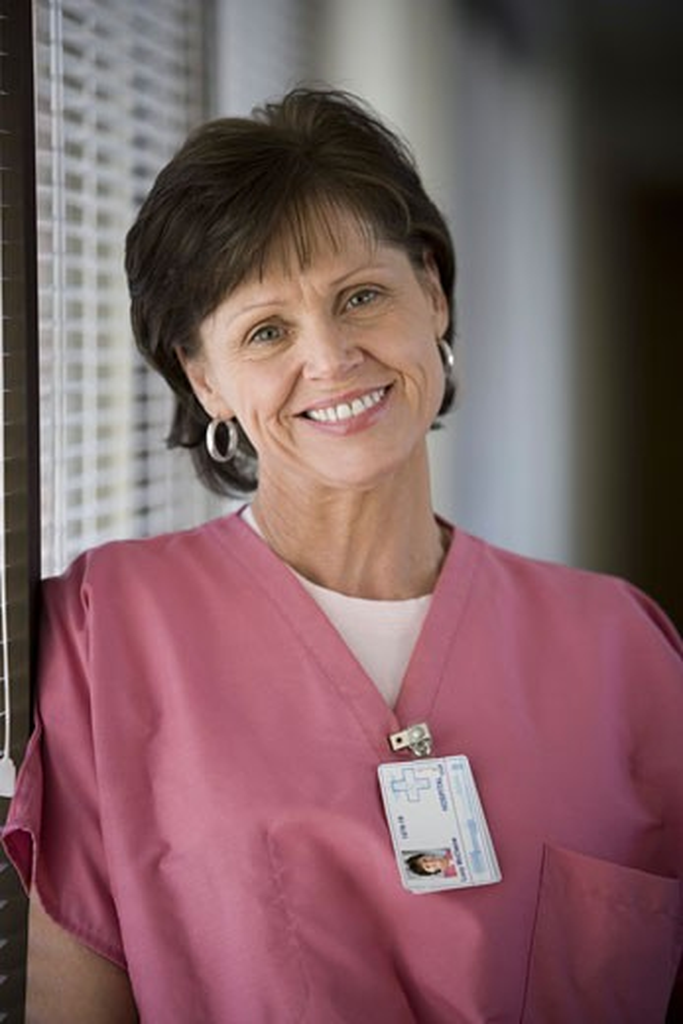 Stock Photo: 1660R-6168 Portrait of a female nurse smiling