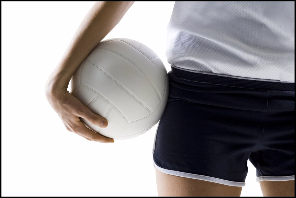 Stock Photo: 1660R-62830 Volleyball player with ball