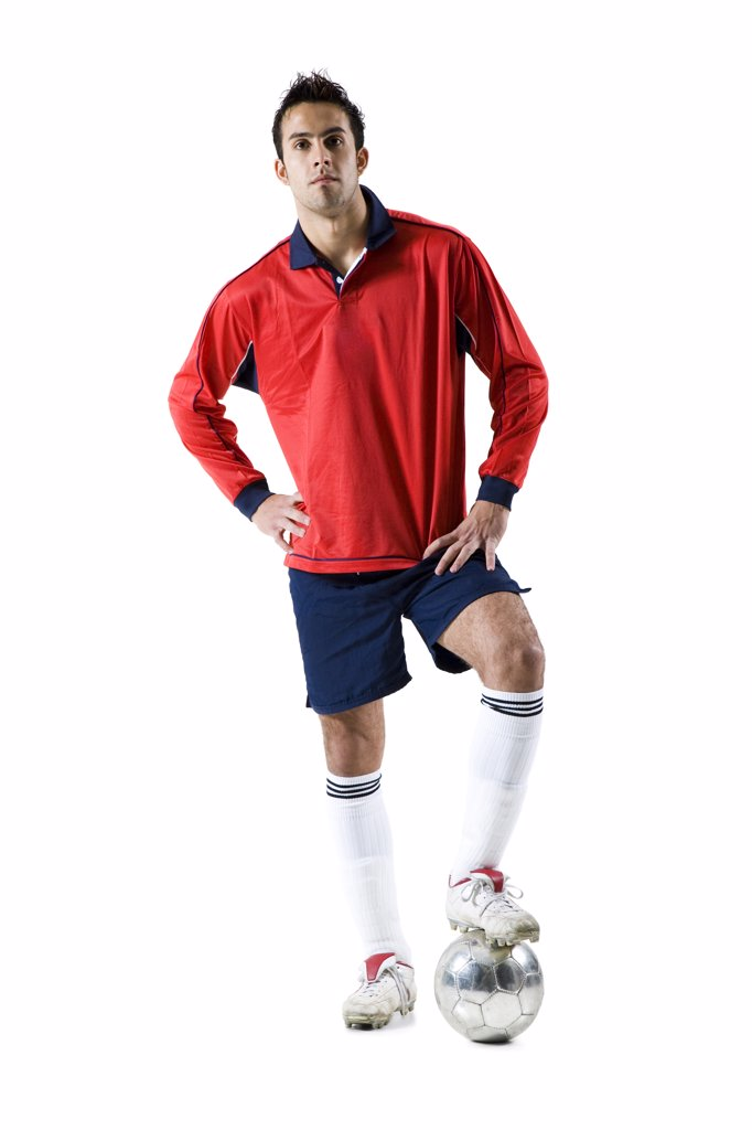 Stock Photo: 1660R-62860 Soccer player with ball
