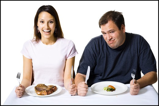 Stock Photo: 1660R-63034 Couple eating lunch