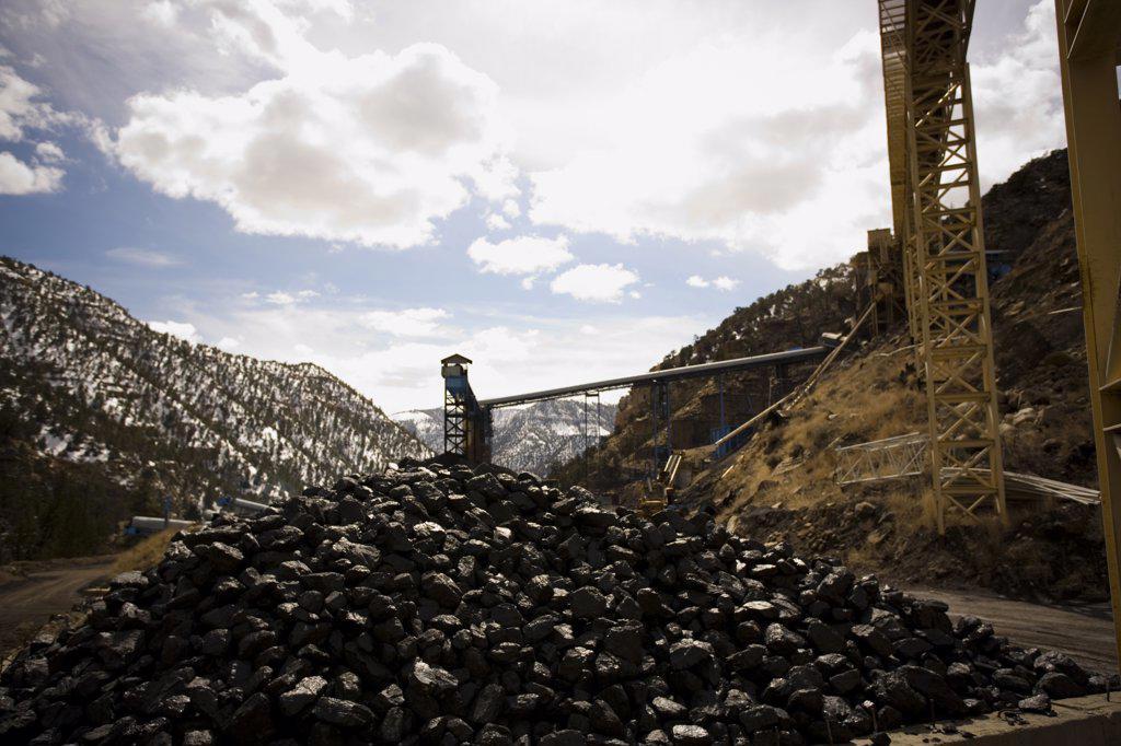 Stock Photo: 1660R-63153 Coal mining facility