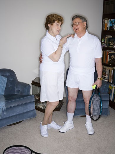 Stock Photo: 1660R-8110 Senior couple looking at each other and smiling