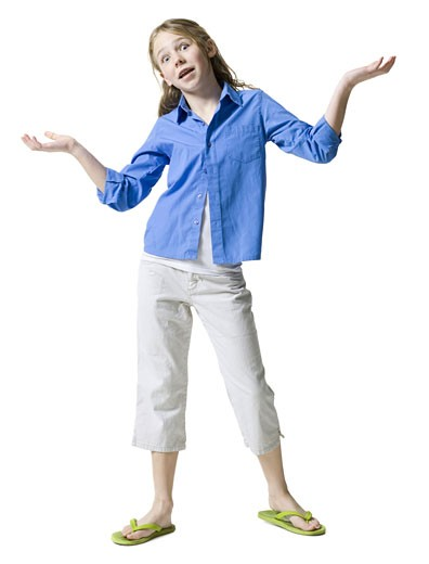 Portrait of a girl gesturing : Stock Photo