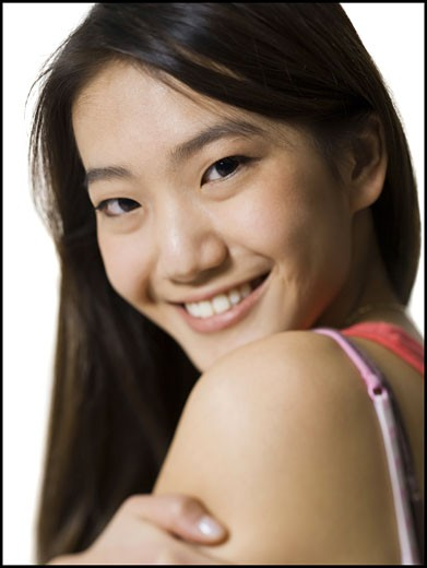 Stock Photo: 1660R-8521 Portrait of a young woman smiling