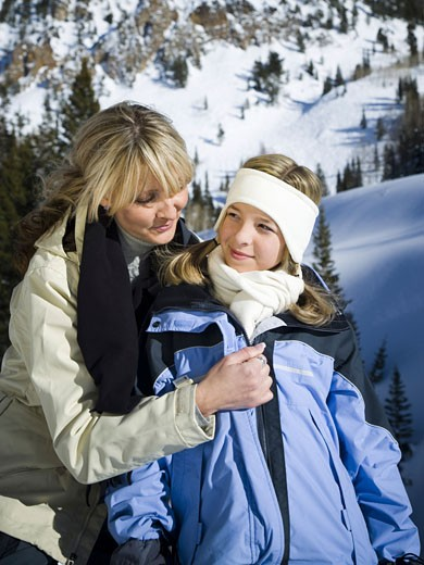Stock Photo: 1660R-8687 Close-up of a mother with her daughter outdoors