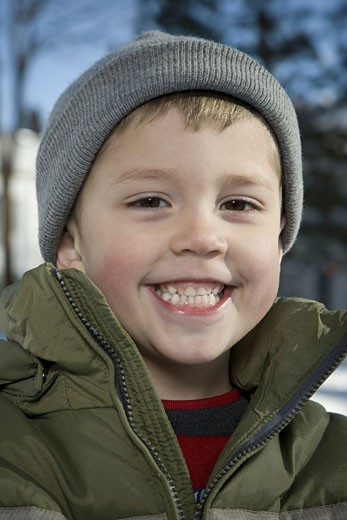 Stock Photo: 1660R-9230 Portrait of a boy smiling