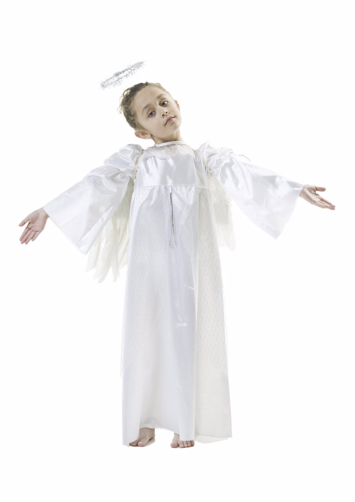 Stock Photo: 1660R-9883 Close-up of a girl in an angel costume