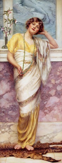 Stock Photo: 1661-109 Green Beads 1914 William Clarke Wontner (1857-1930 British) Private Collection