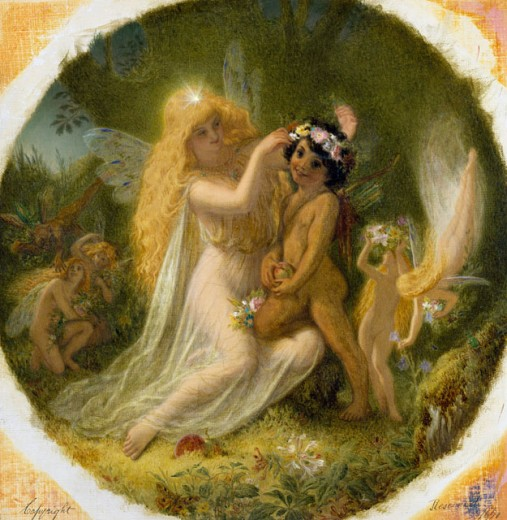 Stock Photo: 1661-119 Titania and the Indian Boy Joseph Noël Paton (1821-1901 British)