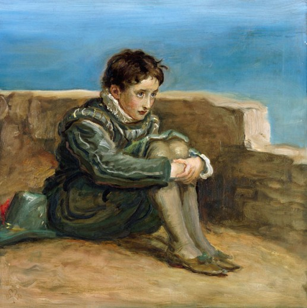 Stock Photo: 1661-132 The Boyhood of Raleigh (Study) 1870 John Everett Millais (1829-1896 British)