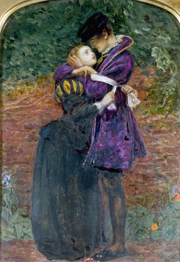 Stock Photo: 1661-136 The Huguenot John Everett Millais (1829-1896 British)