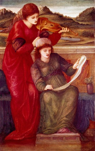 Stock Photo: 1661-152 Music Edward Burne-Jones (1833-1898 British)