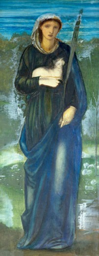 Stock Photo: 1661-153 Saint Agnes Edward Burne-Jones (1833-1898 British) Private Collection