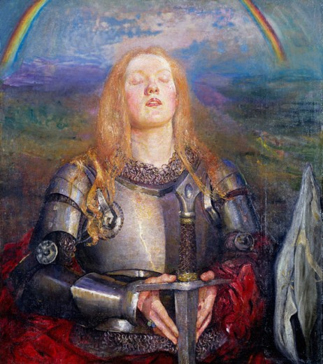 Stock Photo: 1661-197 Joan of Arc Annie Louisa Swynnerton (1844-1933 British)