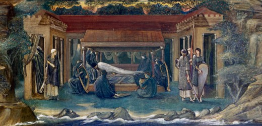 The Sleep of King Arthur in Avalon 1894 Edward Burne-Jones (1833-1898 British) : Stock Photo