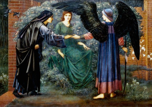 Stock Photo: 1661-202 Love and Chastity from the Rose Series Edward Burne-Jones (1833-1898 British) Private Collection